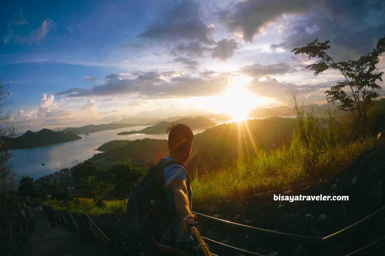 Mount Tapyas: Soaking Up The Dramatic Sunset In Coron.